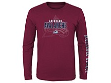 Youth Colorado Avalanche Maze Long Sleeve T-Shirt