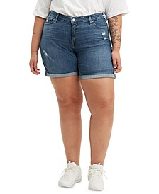 Trendy Plus Size New Denim Shorts