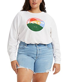 Trendy Plus Size Vintage-Style Logo Sweatshirt