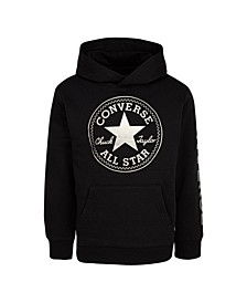 Big Boys Fleece Metallic Logo Pullover Hoodie