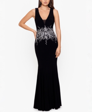 Embroidery-Trim Gown