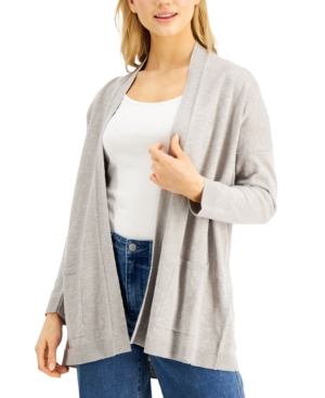 Eileen Fisher HIGH-COLLAR CARDIGAN