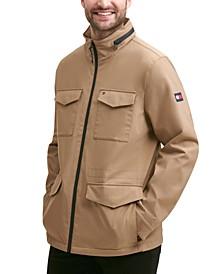 Men's Regular-Fit Field Jacket with Zip-Out Hood