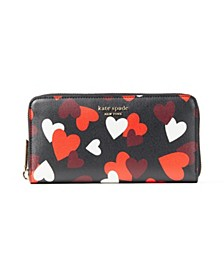 Spencer Celebration Hearts Zip-Around Continental Wallet