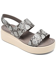 Women's Brooklyn Low Wedge Sandals from Finish Line