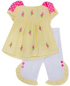 Baby Girls 2-Pc. Check & Floral Tunic & Leggings Set