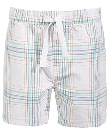 Toddler Boys Soft Plaid Cotton Shorts, Created for Macy's