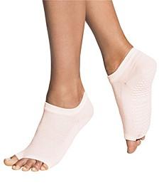 Women's Open Toe Grip Sock for Pilates Barre Yoga Flow