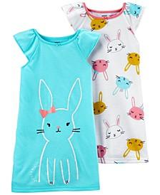 Big Girls 2-Pack Nightgown Set