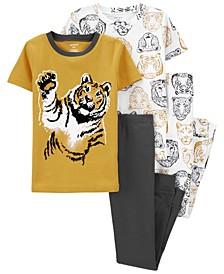 Big Boys 4 Piece Lion Snug Fit Pajama Set