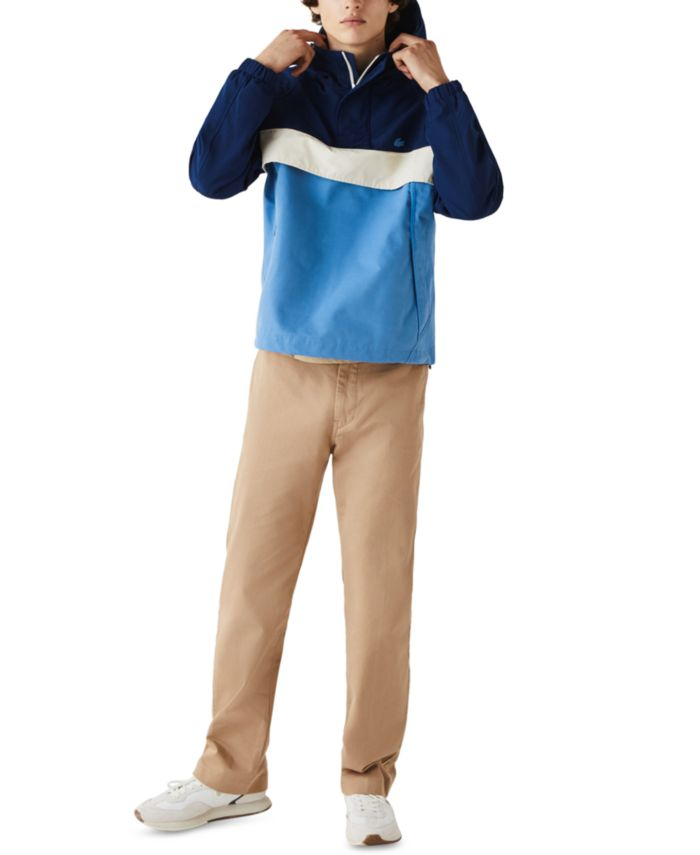 Lacoste Men's Colorblocked Water-Resistant Hooded Jacket  & Reviews - Coats & Jackets - Men - Macy's