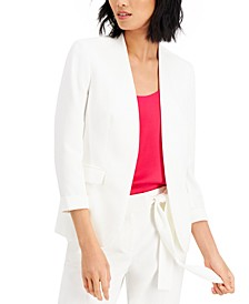 3/4-Sleeve Cuffed Blazer, Created For Macy's