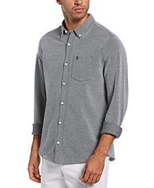 Men's Slim-Fit Birdseye Shirt