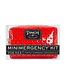 Minimergency Kit for Her, Sweetheart Red