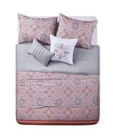 Allison Reversible Comforter Set, Full/Queen