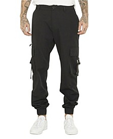 Men's Utility Pant with Fixed Waistband and Elastic Cuff