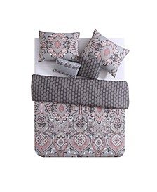 Amherst Reversible Damask Comforter Set Collection