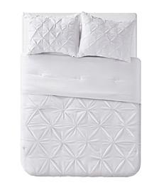 Aria Tassel Pintuck 3 Piece Comforter Set, Full/Queen