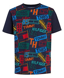Little Boys Name Tag Print Short Sleeve T-shirt