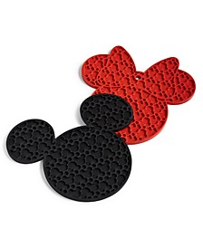 Silicone Minnie Trivets, Set of 2