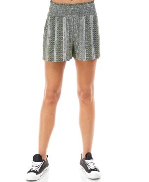 Juniors' Printed Smocked Shorts