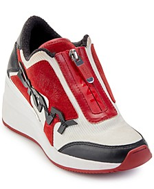 Parlan Zip-Up Wedge Sneakers