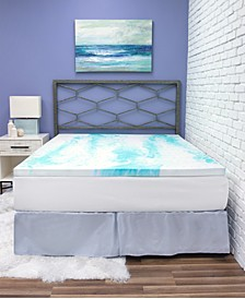 "2"" Gel Swirl Memory Foam Queen Mattress Topper"