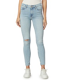 Barbara Ripped Skinny Ankle Jeans