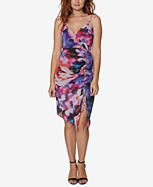 Surplice Side-Ruched Dress