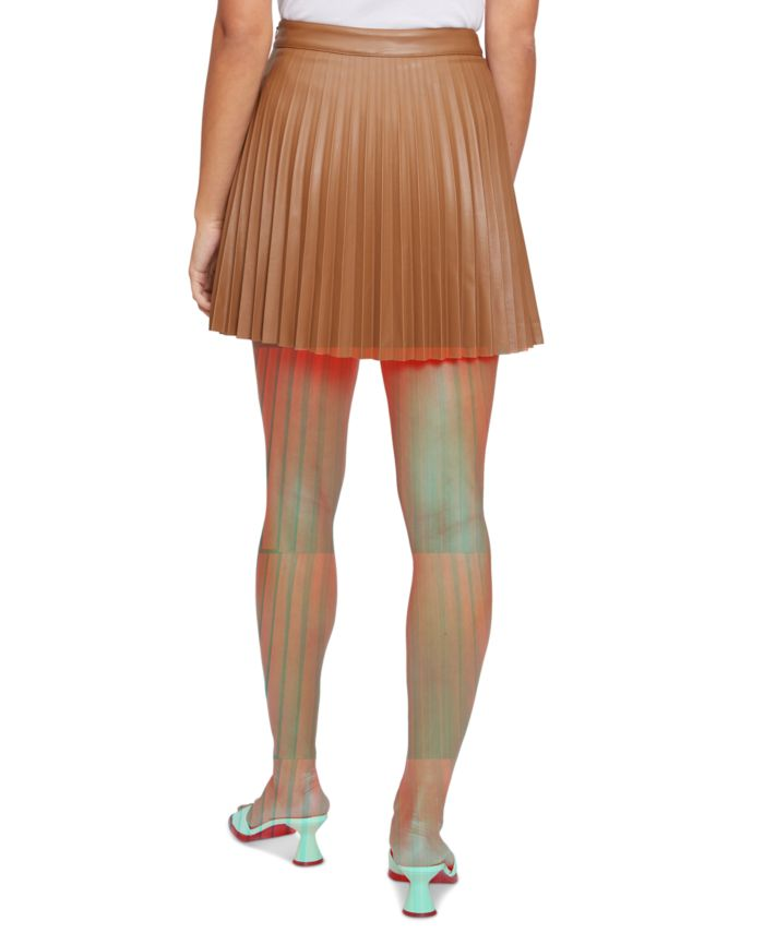 Lucy Paris Faux-Leather Pleated Skirt  & Reviews - Skirts - Juniors - Macy's