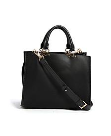 Vegan Leather Snakeskin Satchel