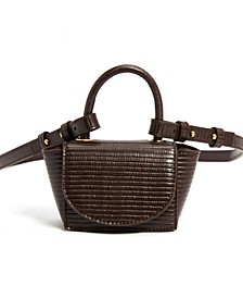 Vegan Leather Lizard Embossed Mini Crossbody