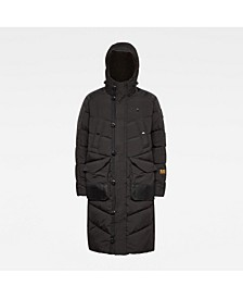 Men's Utility Quilted Hooded Extra Long Parka