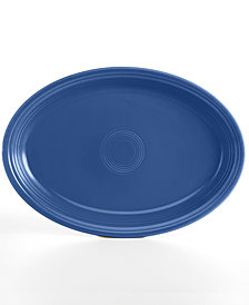 "Fiesta Lapis 19"" Oval Serving Platter"