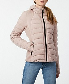 EcoPlume Bibbed Packable Puffer Coat