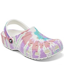Men's and Women's Classic Tie Dye Clogs from Finish Line