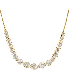 """Diamond Graduated Cluster Statement Necklace  (2 ct. t.w.) in 14k White Gold or 14k Yellow Gold, 17"""" + 2"""" extender"""