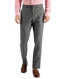 Men's Slim-Fit Non-Iron Performance Stretch Heathered Dress Pants