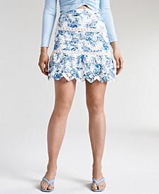 Noelle Cotton Eyelet Skirt