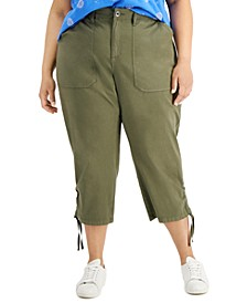 Plus Size Cropped Cargo Pants, Created for Macy's