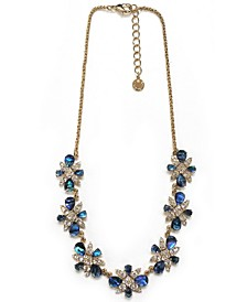 """Gold-Tone Abalone Look Frontal Necklace, 17"""" + 2"""" extender"""