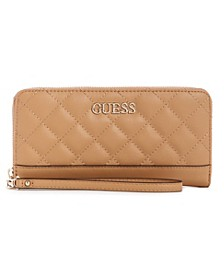 Illy Quilted Large Zip Around Wallet Wristlet