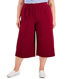 Plus Size Knit Culottes, Created for Macy's