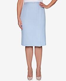 Petite French Bistro Embellished Skirt