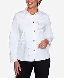 Petite Anchor's Away Rope-Embroidered Jacket