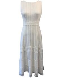 Plus Size Embroidered Chiffon Maxi Dress
