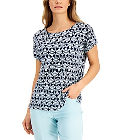 Printed Linen Top, Created for Macy's
