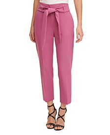 Petite Belted Pants