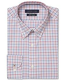 Men's Slim-Fit Non-Iron TH Flex Performance Stretch Check Dress Shirt