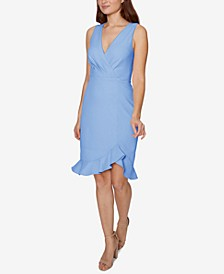 Petite Ruffled Bodycon Dress